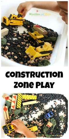 Construction Zone Sensory and small world play!