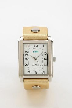 Handcrafted La Mer Gold Oversized Watch #urbanoutfitters