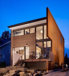 Dwelling with intriguing modern design in Seattle designed by Chadbourne + Doss Architects