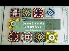 How to cement tiles,tutorial Mosaic Art, Mosaic Tiles, Cement Tiles, Baby Doll House, Reduce Reuse Recycle, Love Craft, Picture On Wood, Diy Projects To Try, Holidays And Events