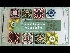 Cómo hacer falsos azulejos para crear mosaicos / Fake tiles to make mosaics - YouTube