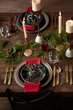 Memorable holiday meals start at the table. From dinnerware & linens to decor & accessories, find everything to create beautiful, welcoming place settings for the year's most festive gatherings. Christmas Baskets, Noel Christmas, Rustic Christmas, Winter Christmas, Christmas Crafts, Christmas Ornaments, Christmas Shirts, Christmas 2019, Christmas Christmas