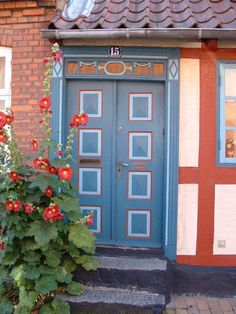 Aero--Aeroskobing, Denmark's famous doors.  Grampa Chris Olsen was from here.  It is my favorite spot in Denmark