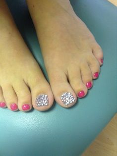 Rhinestone Pedicures are perfect for the summer days or winter nights! Glamour all year round!
