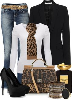 waisted jacket and jeans for a chic look