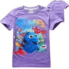 2016 Fashion Children Cartoon Finding Dory T-Shirt Girls Tops Finding Nemo Kids Baby Girls Boys T shirts Child Clothes Clothing