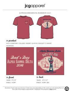 JCG Apparel : Custom Printed Apparel : Alpha Gamma Delta Dad's Day T-Shirt #agd #alphagammadelta #dad #parents #family #weekend #football #greek