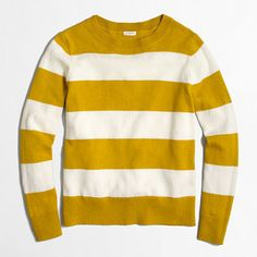51b82d07b21a Wide-stripe sweater J Crew Tops, Wide Stripes, Sweater Fashion, Sweater  Outfits