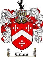 Crum Family Crest / Crum Coat of Arms