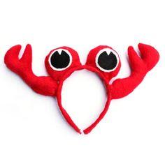Cute Crab Colorful Headwear Headband, 9 Colors Assorted, Bulk Sale Costume