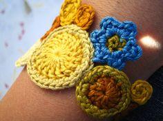 CUSTOM prairie girl bracelet by Even Howard crochet by nadene, $44.00