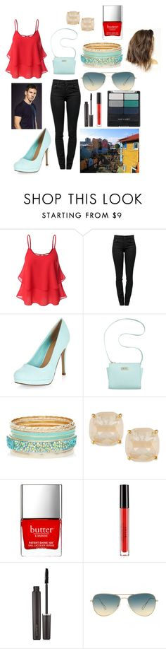 """""""Argentina with Messi"""" by sarahorantomlinson ❤ liked on Polyvore featuring Proenza Schouler, Marc Fisher, Kate Spade, Butter London, Stila, Laura Mercier, Oliver Peoples, Wet n Wild and NIKE"""