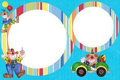 Invitaciones para imprimir gratis de payasos. Clown Party, Decoupage, Projects To Try, Printables, Html, Frames, Coins, Scrapbooking, Template