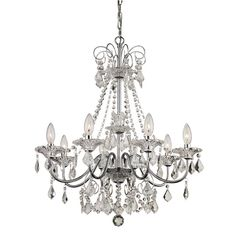 Illuminate your space with the brilliant Bel Air Niagara French Country Chandelier. Regal, ornate design flaunts intricate detailing with curved arms to cascading pendalogues. Crystal beads drape from its swirling crown for added allure. Chandelier Lighting, Chandeliers, Chandelier Crystals, Chandelier Bedroom, Chandelier Shades, Bedroom Lighting, Bel Air Lighting, Home Lighting, Beauty