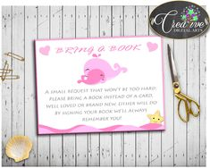 Pink Whale Baby s... http://snoopy-online.myshopify.com/products/pink-whale-baby-shower-girl-bring-a-book-insert-cards-printable-nautical-pink-whale-theme-digital-files-jpg-pdf-instant-download-wbl02 #babyshowergift #babyshowerinvitations #babyshowersigns