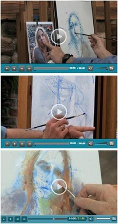 52 Free DIY Portrait Drawing and Painting Videos - Jerry's Atrarama lets you enjoy a bunch of free how-to video demonstrations by talented portrait artists. Beginner or advanced, you'll find helpful advice and techniques drawing and painting creative portraits in watercolor, oils, acrylics and pastels . (Photo: Portrait video demonstrations by Dick Ensing) Click through to learn at your own pace while watching your favorite videos.