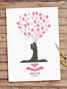 Wedding Tree Fingerprint, Bridal Games, Boho Vintage, Valentines Day Weddings, Tree Wedding, Green Picture Frames, Fingerprint Wedding