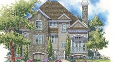 This two story mountain cottage plan, the Albert Ridge has 2349 sq. of living area, 3 bedrooms and 2 baths.The foundation is an island basement. Cottage Style House Plans, Prairie Style Houses, Cottage Style Homes, Cottage House Plans, Craftsman House Plans, Farm House, Mountain Cottage, Mountain House Plans, Two Story House Plans
