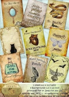 MAGIC 9 Backgrounds Aceo card size  Buy 3 Get by Digitalimage4You, $3.50