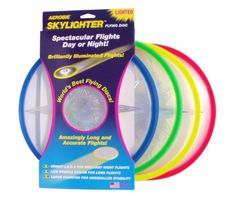 Extend the fun of playing with an Aerobie flying disc into the night with the new Aerobie Skylighter Flying Disc, with bright LEDs that shine bright in the night sky. Outdoor Toys, Outdoor Play, Outdoor Games, Outdoor Activities, Action Sport, Filled Easter Baskets, Frisbee Disc, Flying Disc, Super Saver