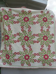Antique Applique quilt 1800s