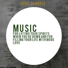 [GIVE THANKS] #ProjectBeautiful #blessings #Music  www.projectbeautiful.net