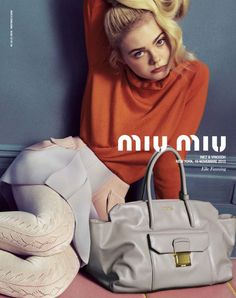 Elle Fanning by Inez & Vinoodh for the Miu Miu Spring/Summer 2014 Campaign Diese und weitere Taschen auf www.designertaschen-shops.de entdecken