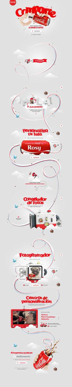 Comparte una Coca-Cola Website on Behance