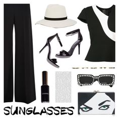 """""""Vintage Love: Retro Sunglasses"""" by deepwinter ❤ liked on Polyvore featuring Charlotte Olympia, Gucci, Roland Mouret, Oris, Janessa Leone, Chanel, Isabel Marant, vintage and RetroSunglasses"""