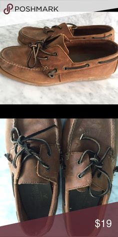 4f35e5694e9 AE Topsider Leather Boat Shoe Worn. Soles are 8 10 American Eagle  Outfitters Shoes Boat Shoes