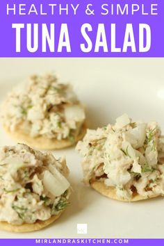 Simple, healthy and delicious tuna salad seasoned with dill and green onion. This easy lunchtime solution is flavorful but not loaded with mayo.  I like it on gluten free crackers or a nice whole wheat bread or even in lettuce wraps! #lunch #easy #healthy #seafood Interesting Recipes, Amazing Recipes, Delicious Recipes, Healthy Tuna Salad, Healthy Food, Healthy Eating, Homemade Breakfast, Breakfast Recipes, One Pot Meals