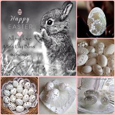 Collage by Miss Lily Bliss Easter 2018, Happy Easter, Bliss, Seasons, Collages, Mood Boards, Cream, Spring, Brown