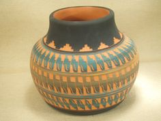 Native American Indian pottery  Najavo etched pot by BTBcollection, $135.00