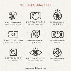 Paquete de logos minimal de cámara More