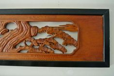 RANMA JAPANESE TRANSOM | Japanese Carved Wood Ramna (Architectural Transom) at 1stdibs
