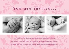 Pretty Butterflies Christening Invitation   Invitations ...