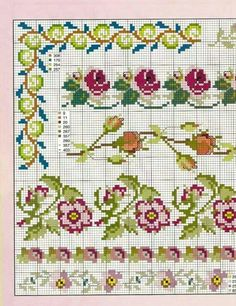 This Pin was discovered by Kan Beaded Cross Stitch, Cross Stitch Borders, Cross Stitch Rose, Cross Stitch Flowers, Cross Stitch Kits, Cross Stitch Charts, Cross Stitch Designs, Cross Stitching, Cross Stitch Embroidery