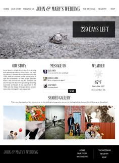 UXDi #3 - Wedding Template website on Behance
