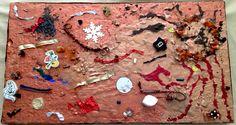 """Art work by Catherine Taormina """"Volcano"""" Original Art For Sale, Volcano, Gingerbread Cookies, Art Work, Gingerbread Cupcakes, Artwork, Ginger Cookies, Work Of Art, Piece Of Art"""