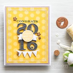 Graduation Card using the NEW Prizm Die Cutting and Embossing Machine - Spellbinders