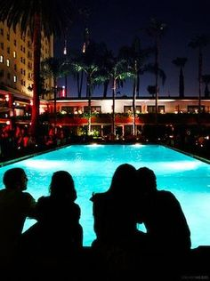 LAist covers our weekly movie screenings at Hollywood Roosevelt's Tropicana pool.