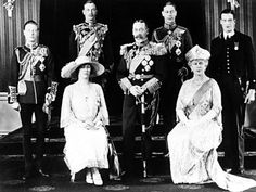 George V and family on his second son's wedding day.