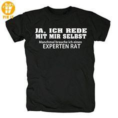 TSP Ja ich rede mit mir selbst T-Shirt Herren XXL Schwarz - T-Shirts mit Spruch   Lustige und coole T-Shirts   Funny T-Shirts (*Partner-Link)