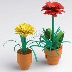 Flechtstreifen-Blumen Quilling, Planter Pots, 8 Martie, Flowers, Mother's Day, Home Made, Braid, Easter Activities, Games