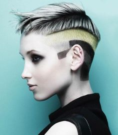 Very cool #shorthaircut and concept by #markleesonsalons #DCIeducation x
