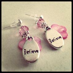 Believe earrings for Miss 6 by julietfieldew