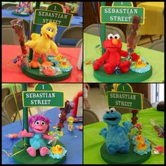 Sesame Street Characters Center Pieces