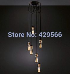 Edison Chandelier Vintage Pendant Lamp Ceiling Light Bulbs Industrial Restaurant