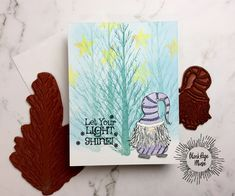 Blank Page Muse: Gnome for the Holidays Card Make Your Own Card, Blank Page, Broken China, Instagram Blog, Distress Ink, My Stamp, Christmas Inspiration, Medium Art, Mixed Media Art