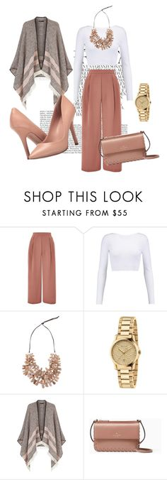 """""""Untitled #316"""" by lugavicjasmina ❤ liked on Polyvore featuring Whiteley, Topshop, Cushnie Et Ochs, Gucci, Maje, Kate Spade and Charles by Charles David"""